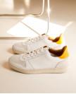 Baskets n°14 Cuir Blanc / Python Blush (thumbnail) 5
